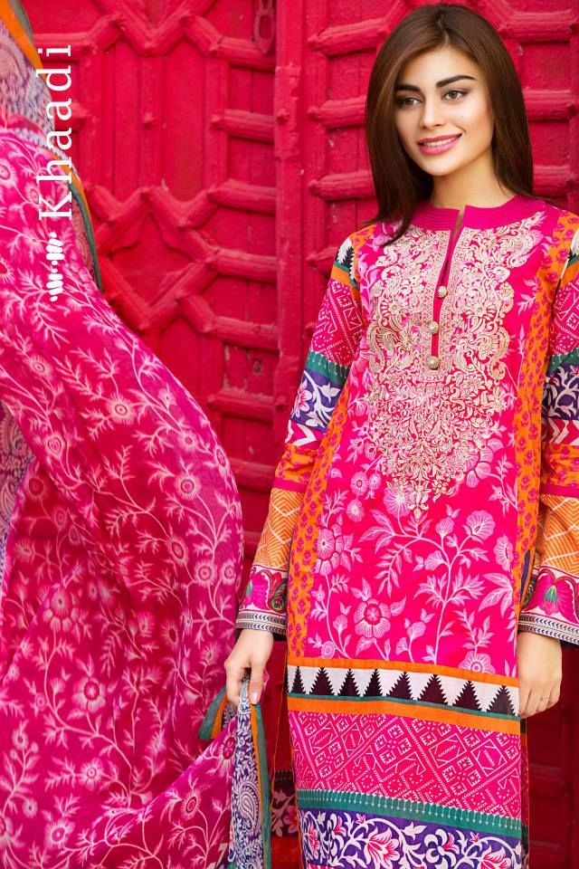 Khaadi Lawn Eid Dresses Collection 2015-2016 Catalog | StylesGap.com