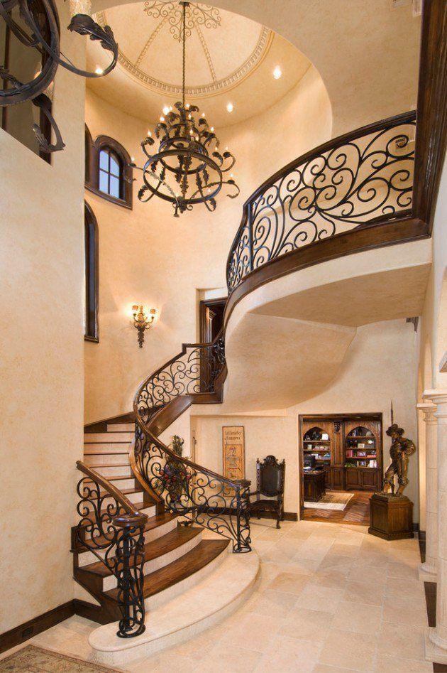 Best 18 Palatial Mediterranean Staircase Designs That Redefine 400 x 300