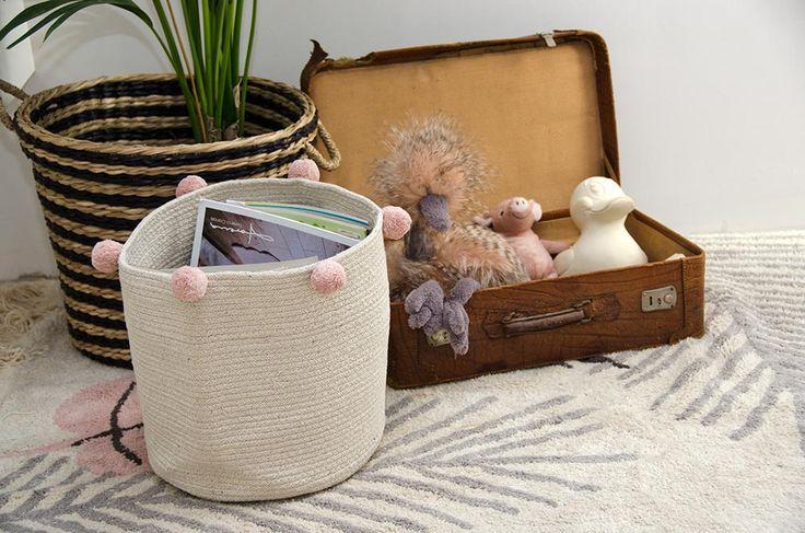 NEW Basket Natural Collection #washablerugs #lorenacanals #basket #accesories