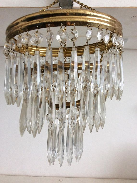 Art Deco Crystal Glass Chandelier Antique Glass Chandelier