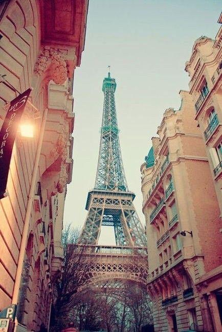 Un día caminando por las calles de Paris, di la vuelta en esquina después de haber comprado un café y un croissant para desayunar... y ahí estaba, majestuosa toda ella, en los edificios me saludaba.