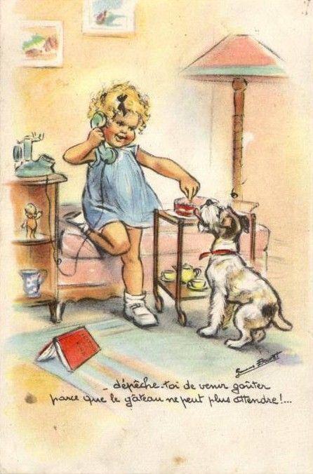 """Germaine Bouret """"Dépêche-toi de venir goûter parce que le gâteau ne peut plus attendre !..."""""""