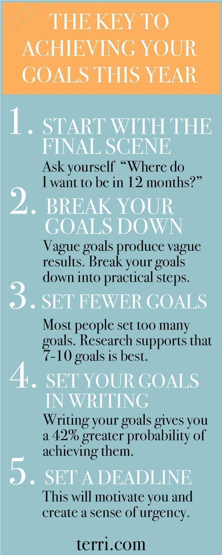 Here is the key to achieving your goals this year