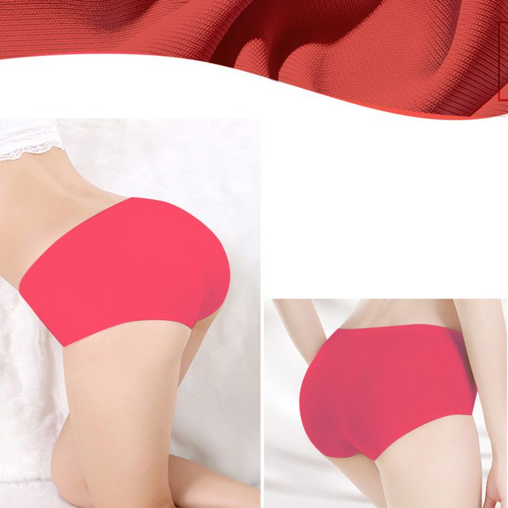 2 pieces Silk Material Comfortable Panties Seamless Briefs Underwear Sale
