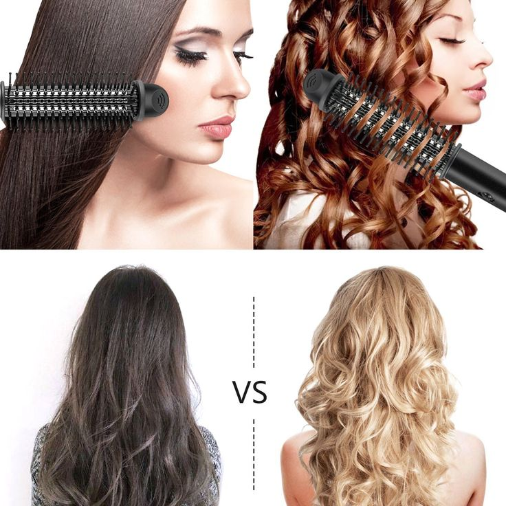 BROADCARE 2-in-1 Hot Air Styling Brush, Professional Flat Iron Round Brush and Hair Curling Wand Styling Tool -Black ** Click on the image for additional details. #hairandmakeup