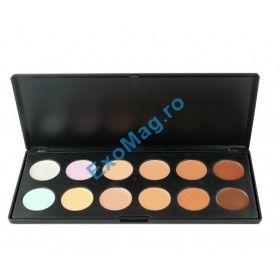 Trusa machiaj 12 culori Concealer - http://exomag.ro/Truse-de-machiaj-Blush-farduri-eyeshadow-eyeliner-lipgloss/trusa-machiaj-12-culori-fraulein38-natural-look-anticearcan-corector-concealer.html