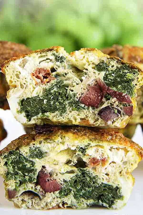 Pesto Egg Muffins - Low-Carb Recipes For Vegetarian