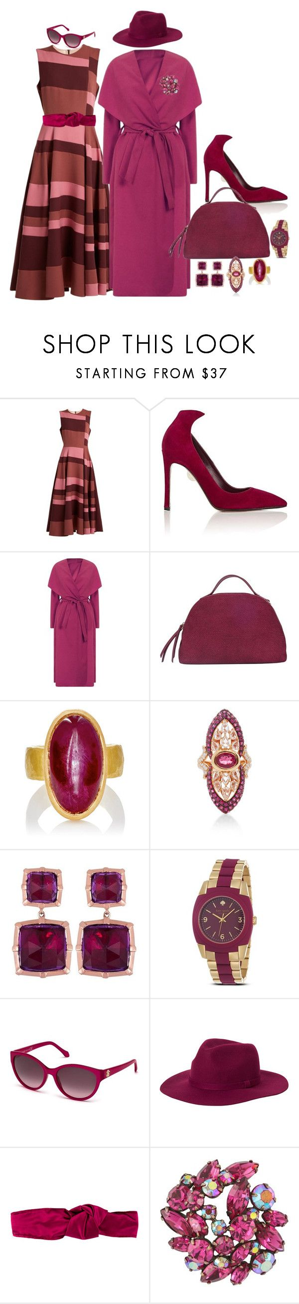 """Just somethin pretty to look at"" by blujay1126 ❤ liked on Polyvore featuring Roksanda, Samuele Failli, Borbonese, Malcolm Betts, Wendy Yue, Kate Spade, Roberto Cavalli, Monki, Prada and Susan Caplan Vintage"