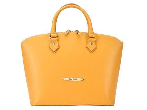 Pierre Cardin genuine leather camel satchel | SoLime