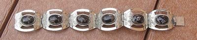 Sterling and Glass Bracelet