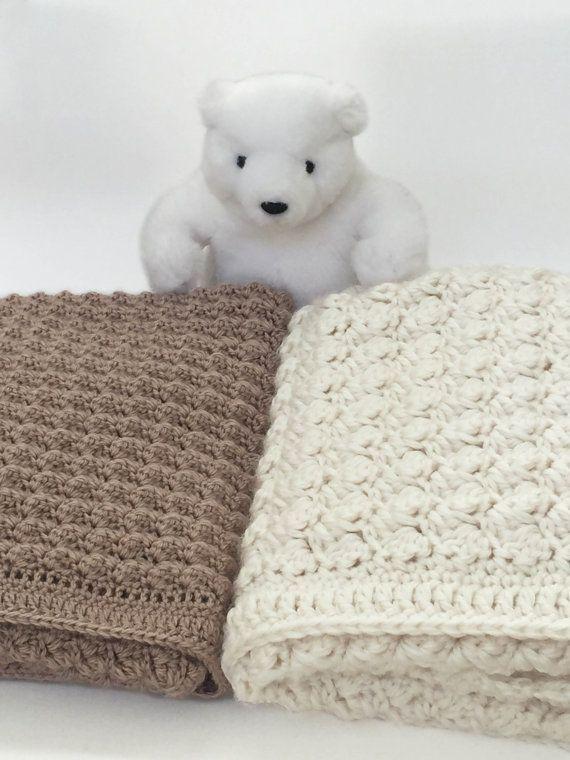 Chunky Crochet Baby Blanket  Crochet Baby by DeborahOLearyPattern