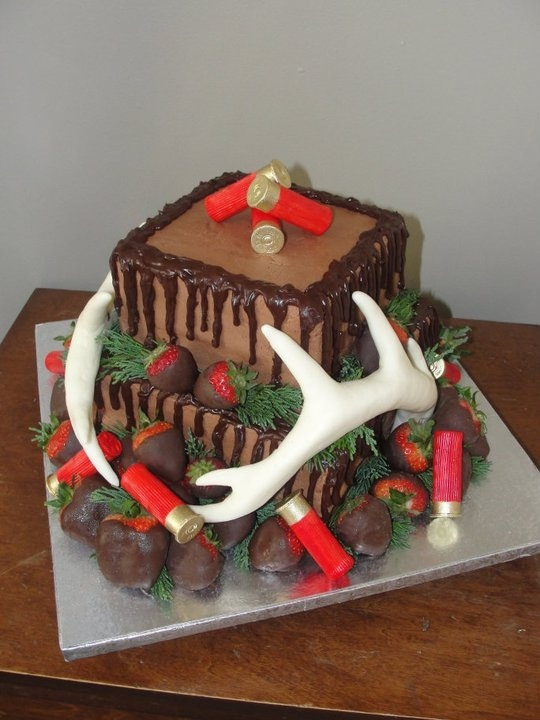 Love this!  Shotgun Wedding Cake with Antlers! Made by Tamara Yurich of the Bar Lazy J Guest Ranch in Parshall, Colorado.