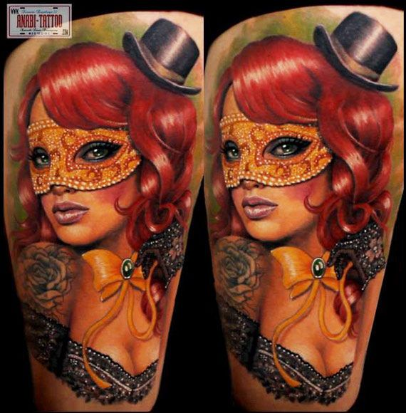 17 Best Images About Venetian Mask Tattoos On Pinterest