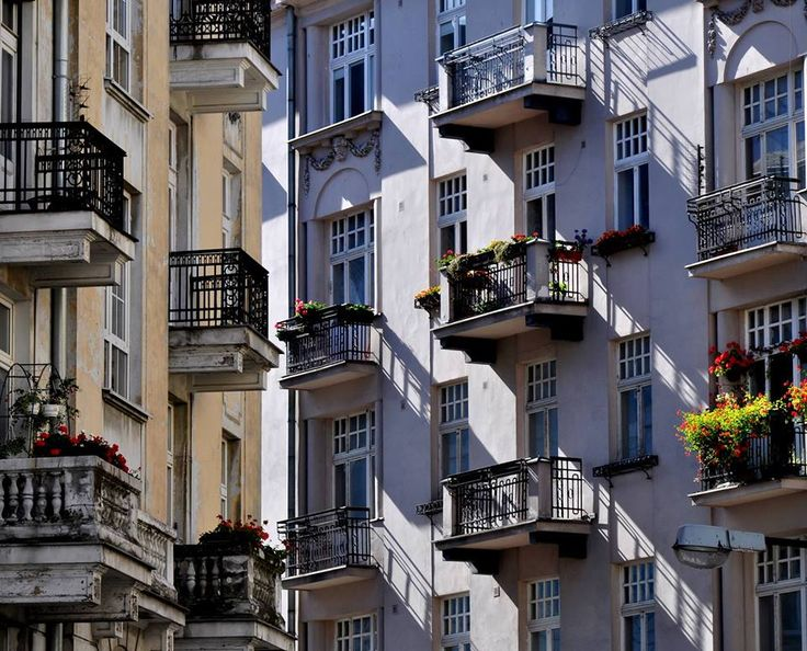 I'm in love in my City. Warsaw`s balconies by Warszawa Nieznana on fb.