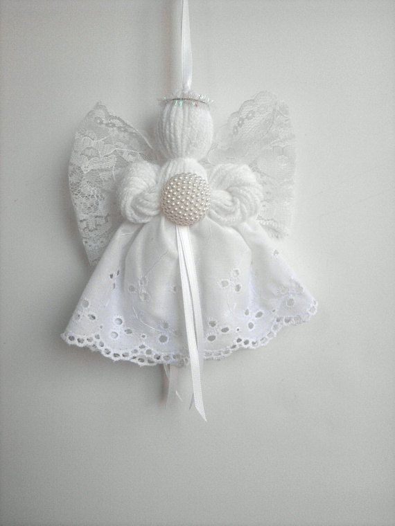 Birthstone Series Lace and Yarn Angel by timelesstradition on Etsy