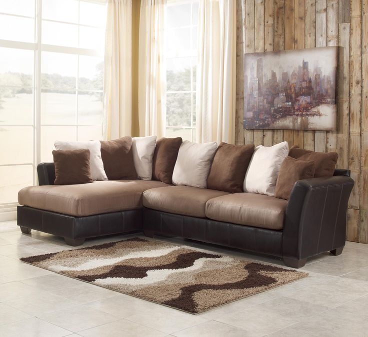 Masoli   Mocha 2 Piece Sectional With Chaise By Benchcraft