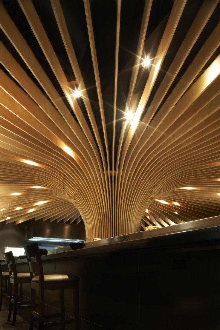 Contemporary Restaurant Ceiling Lighting Design