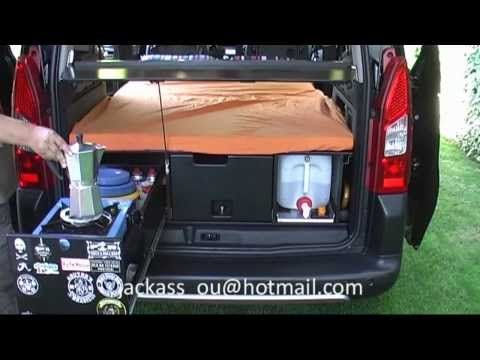 amdro boot jump camper car unit for Berlingo, Partner, Doblo, Caddy - YouTube - I WISH THIS WAS AVAILABLE IN THE USA.