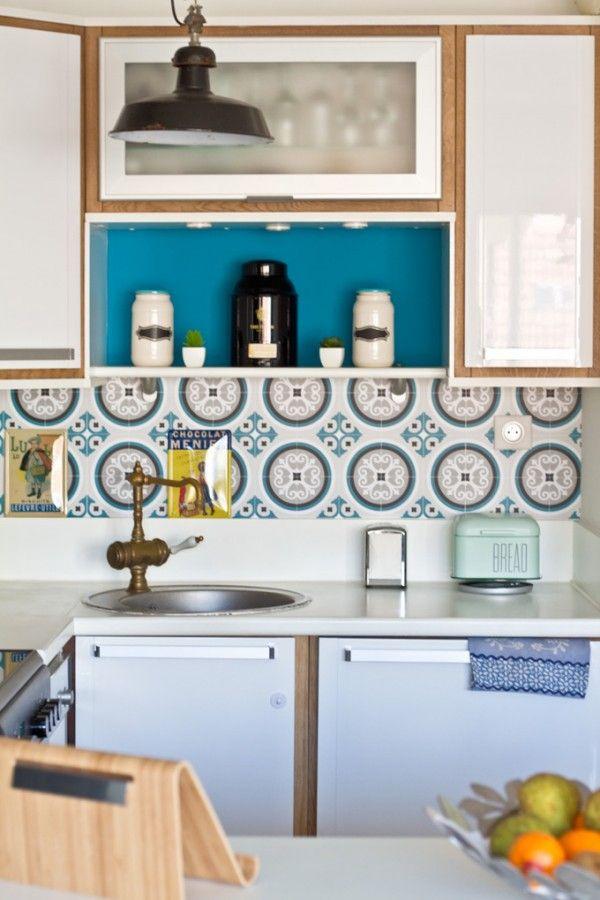 17 meilleures id es propos de cr dence adh sive cuisine sur pinterest carrelage adhesif. Black Bedroom Furniture Sets. Home Design Ideas