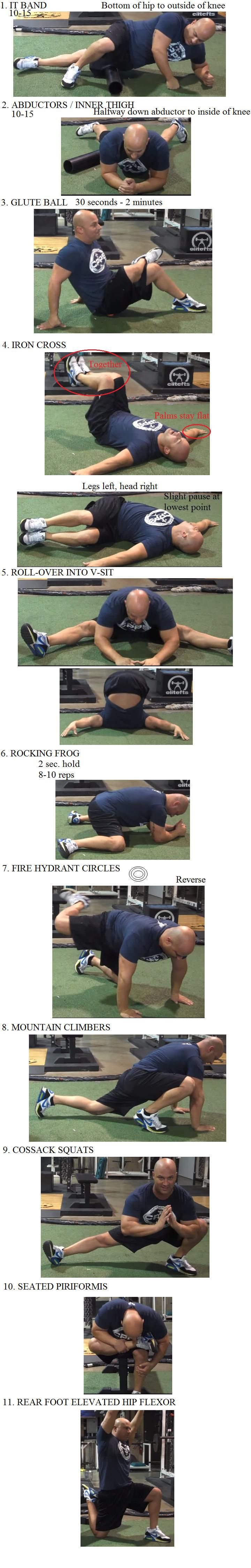 "Joe DeFranco's ""Limber 11"" with photos. Excellent mobility routine."