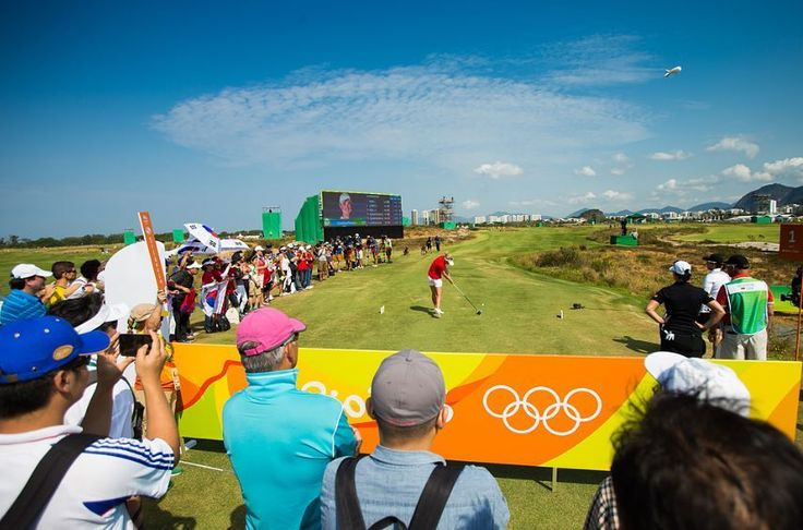 Nanna Madsen of Denmark tees off on the first hole during the third round at the Rio 2016 Olympic Games Reserva de Marapendi Golf Course Barra Da Tijuca Rio De Janeiro Brazil. (Photo by Tristan Jones/IGF) http://ift.tt/2bj3efj