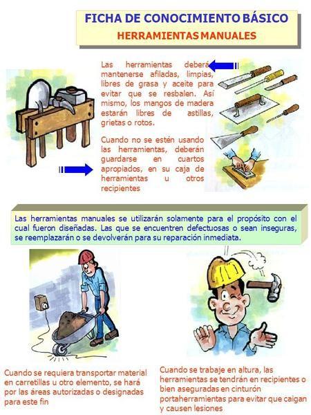 FICHA DE CONOCIMIENTO BÁSICO HERRAMIENTAS MANUALES>