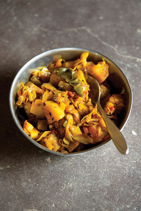 This vibrant Indian curry comes from the Meghwal tribe of Gujarat, India; traditionally cooked over a wood fire, the stovetop works just as well.