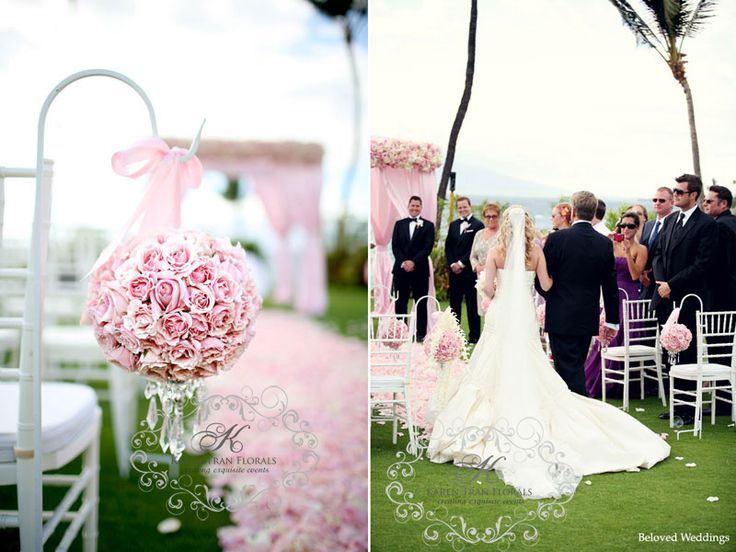 10 best island weddings images on pinterest island weddings pretty pink flower balls for a garden wedding decorations junglespirit Image collections