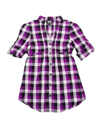 blusa purpura cuadros