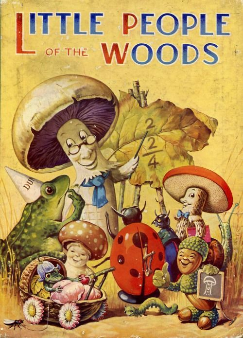 """LIttle People of the Woods,"" (no date, no author or artist credits.) 1940, Birn Brothers, Ltd., London."