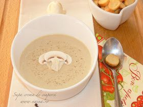 Supa crema de ciuperci este un deliciu care se poate face in orice anotimp.   Zilele trecute am vazut in supermarket niste ciuperci s...