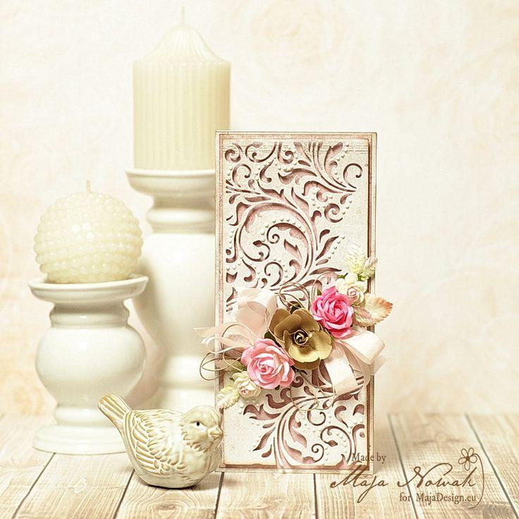 CraftHobby Oliwiaen - Openwork Background Wedding Card / Ażurowa kartka ślubna