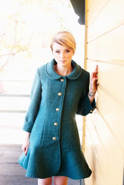 The Abbey Coat sewing pattern  Jamie Christina by prettyditty, $14.95