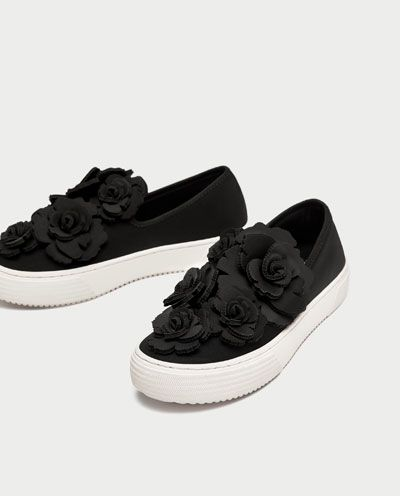 Image 5 of FLORAL SNEAKERS from Zara