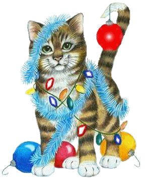 animated_cat_christmas_lights | Chill Out With Stressbuster1