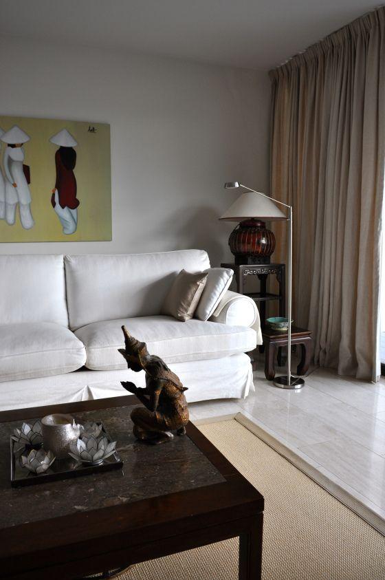 woonkamer in aziatische stijl na STIJLIDEE Interieuradvies en Styling via www.stijlidee.nl