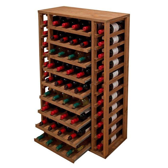 Vinställ FAUSTA 58 flaskor - utdragbara hyllor