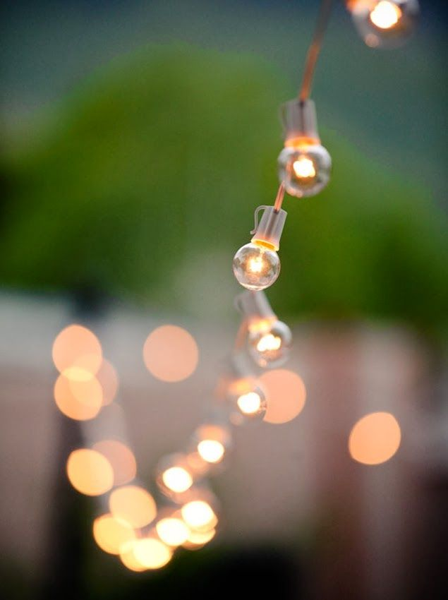 """Trendy Wedding, blog idées et inspirations mariage ♥ French Wedding Blog: {décoration} Où trouver sa guirlande d'ampoules lumineuses """"guingu..."""