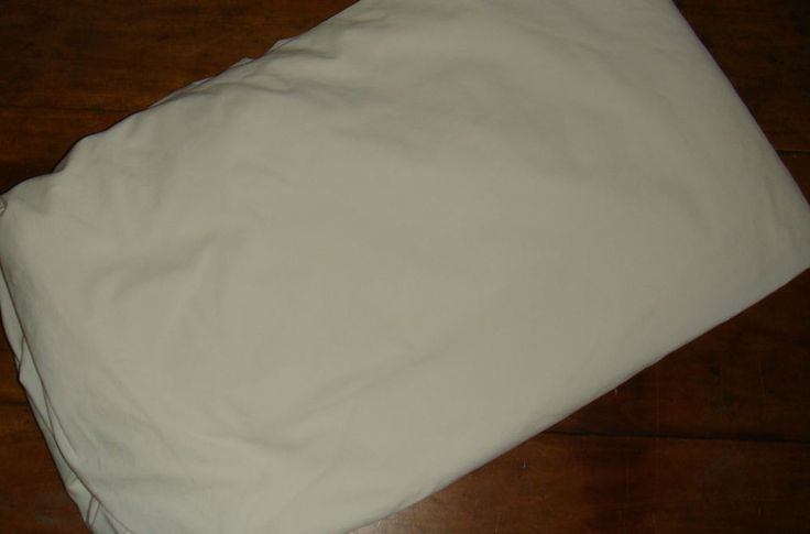 "Sferra Queen Fitted Sheet Solid Ivory Egyptian Cotton Extra Deep EUC 14"" Pockets #SFERRA #Transitional"