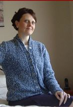 Knitting pattern for a ladies 8ply cardigan, in plus sizes.