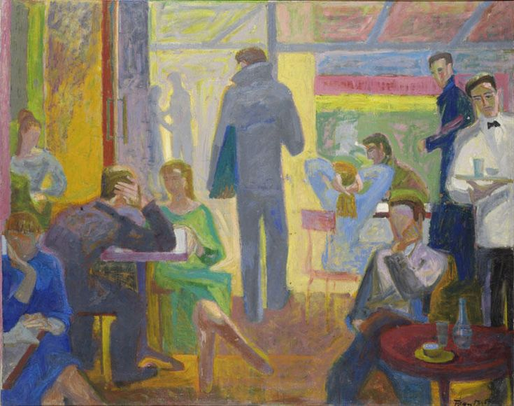 'Cafe', 1957 by Panayiotis Tetsis