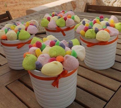 Centros de mesa infantiles con chuches pequenos candy - Centro de mesa de chuches ...