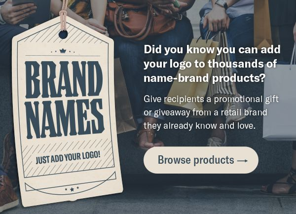 Whether it's a Koozie grocery tote or Ghirardelli chocolate squares, surprise your customers with a fun branded gift.