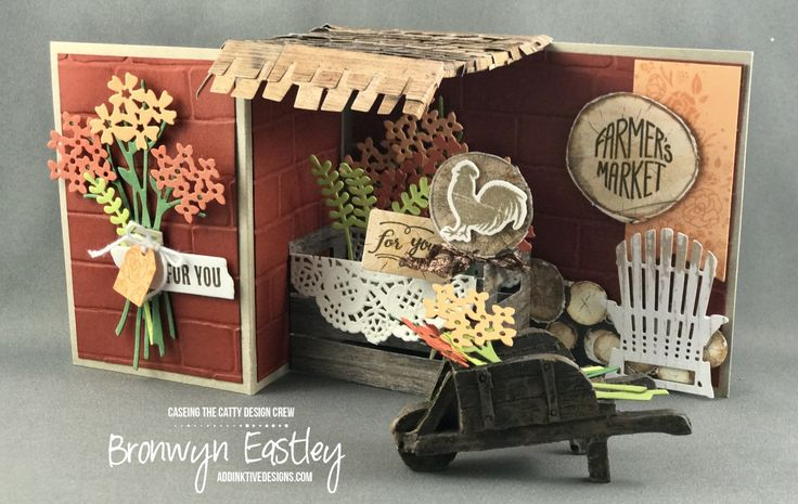CASEing the Catty, page 158, Z-Fold Card, Bouquet Bunch, Wood Words, Bronwyn Eastley, Stampin' Up!, #addinktivedesigns