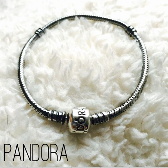 """Pandora Oxidized Sterling Silver Bracelet 100% AUTHENTIC. Excellent condition - only gently worn a few times. Charms are not included. 7.1"""" long bracelet. Beautiful oxidized bracelet that will showcase your bright silver charms. The barrel is a shiny sterling silver clasp. No. 590702OX. I used to work at Pandora and acquired one too many pieces  Please, no trades or PP. Thanks for looking! Pandora Jewelry Bracelets"""