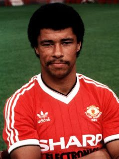 Paul McGrath of Manchester United in his 1983 FA Cup Winners Shirt