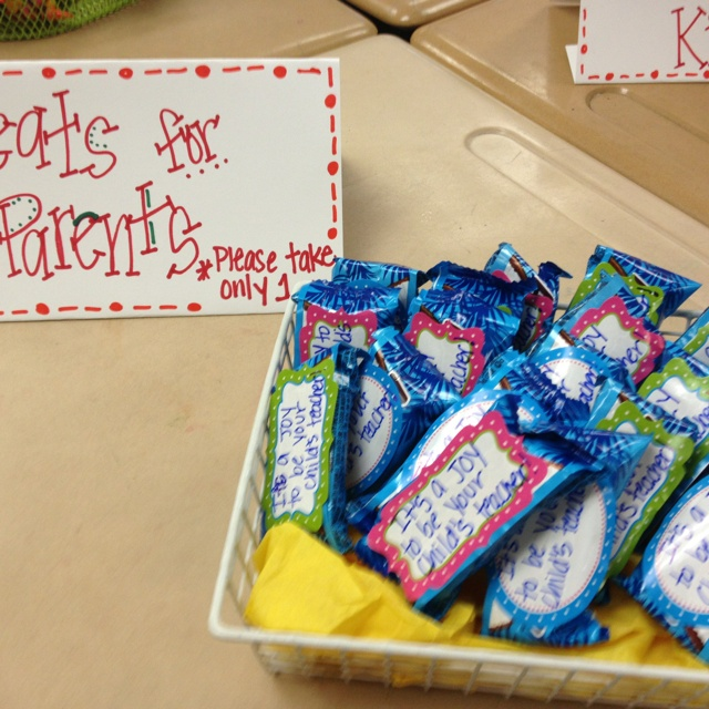 Open House Treats- It's a joy to be your child's teacher. (almond joy candy bar)
