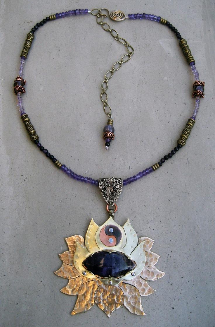 101 best inspiration symbols images on pinterest mandalas crown chakra necklace amethyst lotus flower spiritual symbol handmade metalsmithed dhlflorist Choice Image