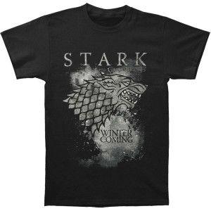 GAME OF THRONES Stark Logo Slim Fit T-shirt #gameofthrones #got #season7 #ironthrone #winteriscoming #housestark #direwolf #johnsnow #kinginthenorth #tvshow #licensed #licensedmerch #entertainment #rocknroll #rockabilia #tshirt