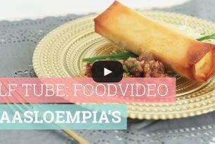 Foodvideo: Kaasloempia's met vijgensalsa